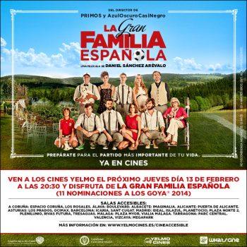 """Cartel """"La Gran Familia Española"""" en los cines Yelmo"""