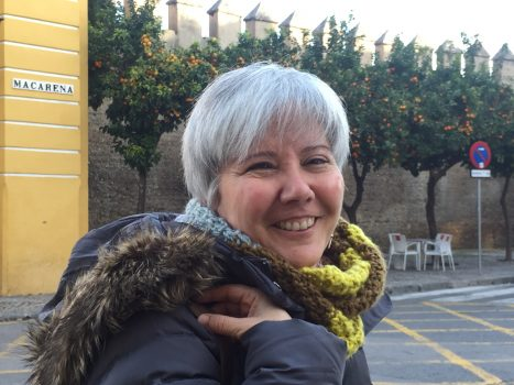 Aurora Delgado en la Muralla de la Macarena de Sevilla