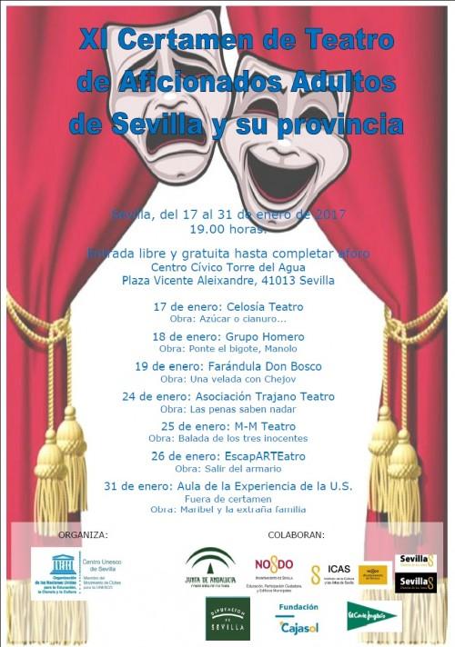 Cartel oficial del certamen teatral