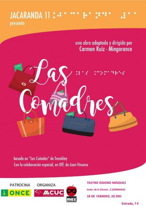 """Cartel de la obra teatral """"Las Comadres"""""""