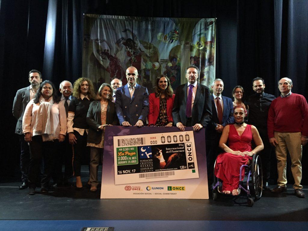 Presentación del cupón de la Fundación Cristina Heeren