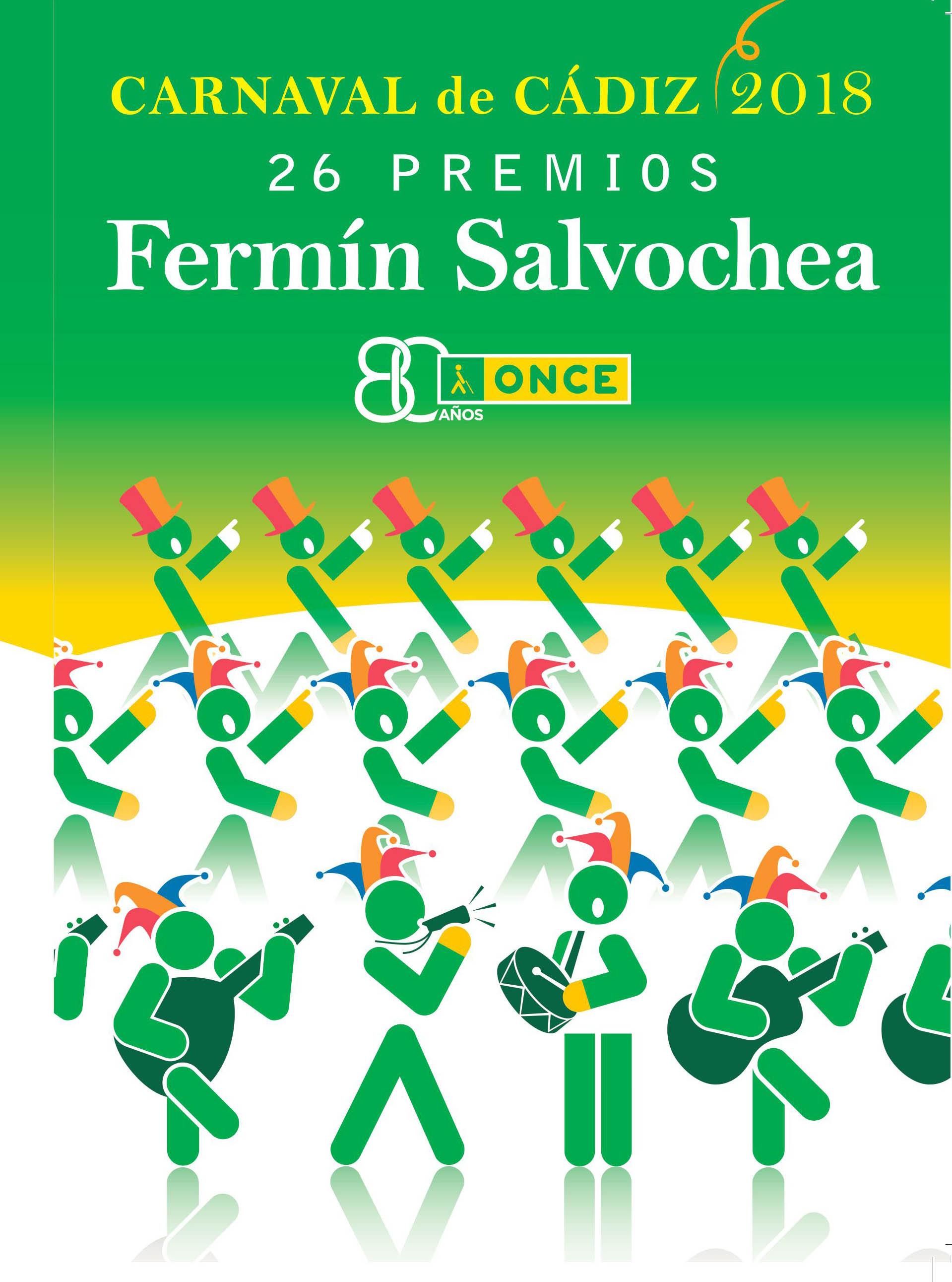 Cartel oficial de los Premios Fermín Salvochea 2018