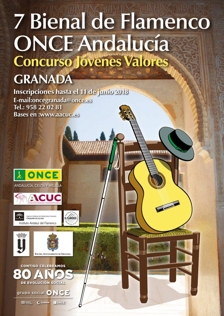 Cartel oficial de la 7 Bienal Flamenca ONCE Andalucía