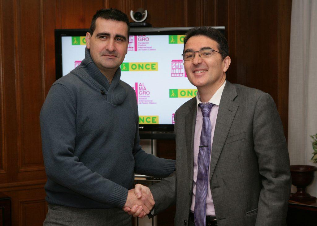 Ignacio García y Andrés Ramos tras la firma del Convenio | Foto: Javier Regueros