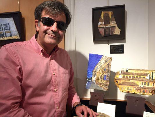 """Soto, en la exposición de María José Muñoz, considera que la novela histórica es """"un vehículo precioso"""" para transmitir la riqueza de la historia"""