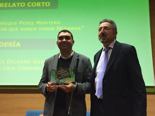 Cristóbal Martínez entregó el premio a Enrique Pérez