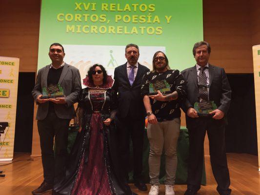 Premiados y representantes de la ONCE tras la entrega de premios