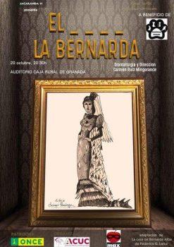 Cartel en el que aparece el lugar y la fecha de la función de Jacaranda 11 en el Auditorio de Caja Rural de Granada