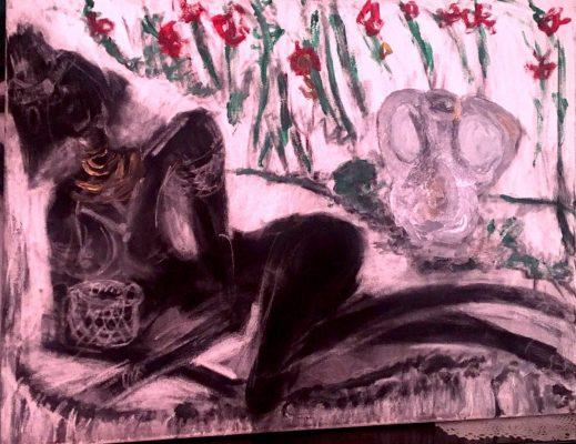 Uno de los cuadros expuestos de María José Fernández