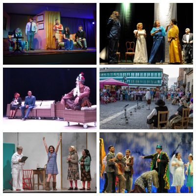Collage del resto de grupos de teatro de la ONCE que participarán en la Bienal de Extremadura
