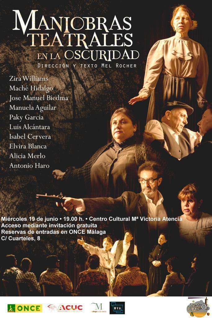 Cartel oficial de la última obra de 'El Malecón', 'Maniobras Teatrales en la Oscuridad'
