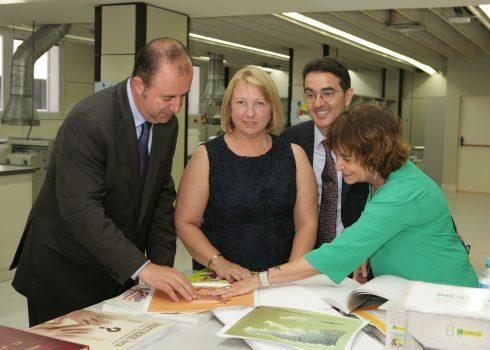 Grupo Planeta conoce el Servicio Bibliográfico de la ONCE