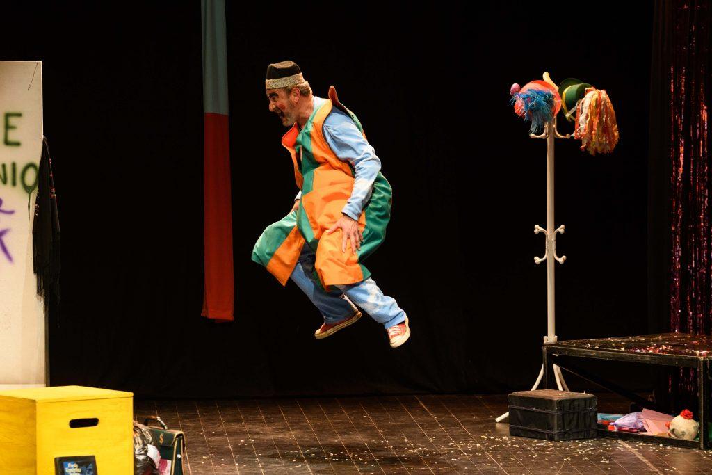 Josema Gómez en uno de sus papeles en Don Volpone en la pasada Bienal de Teatro de Extremadura | Foto: Javier Regueros